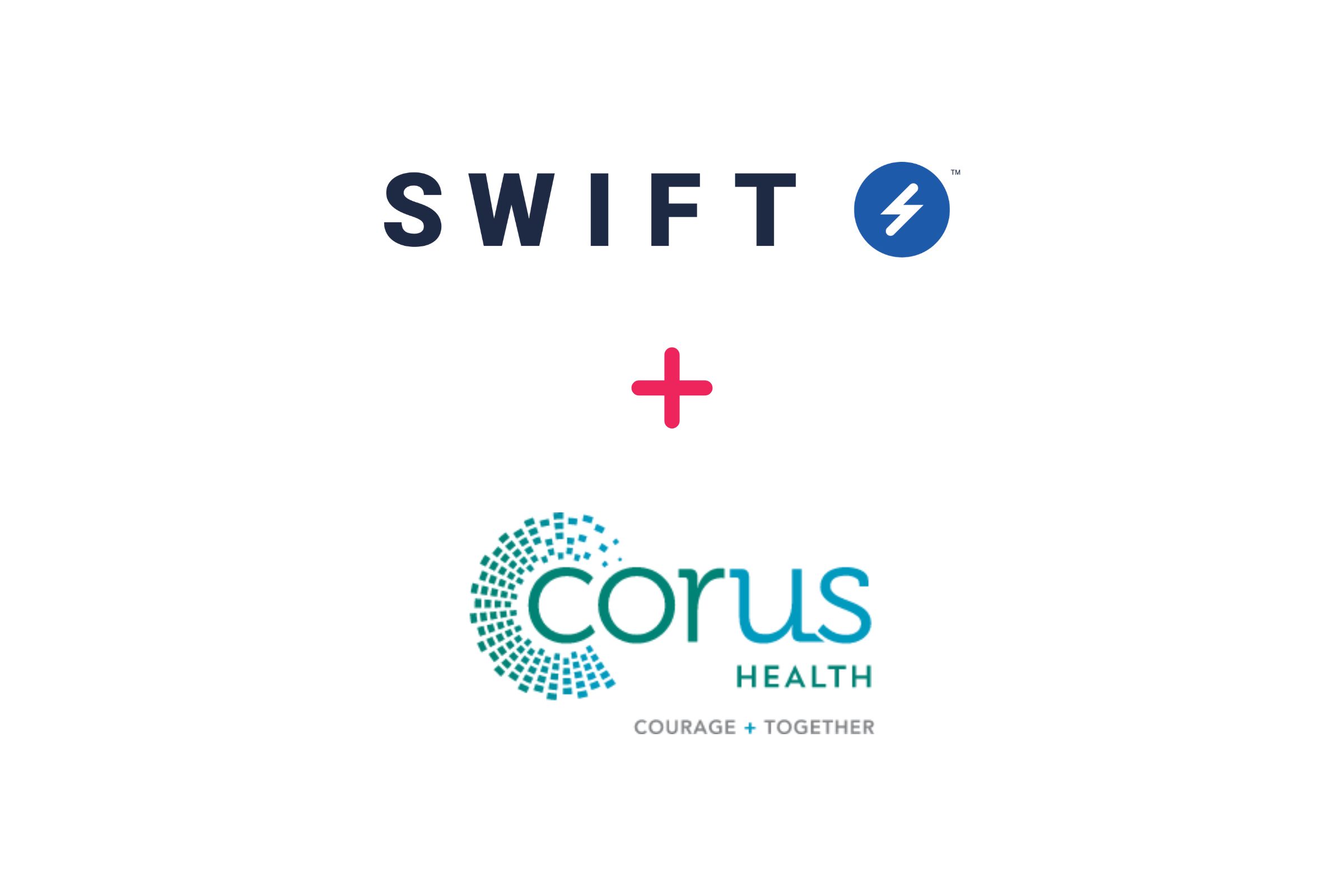 Swift Medical plus Corus Health logos